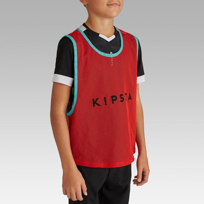 兒童款球隊運動訓練背心- 紅色