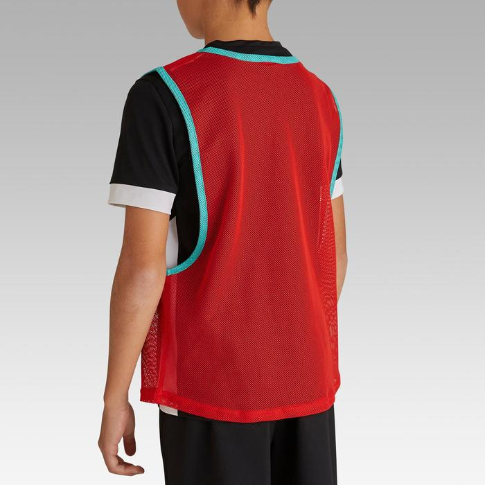 Chasuble sports collectifs enfant rouge