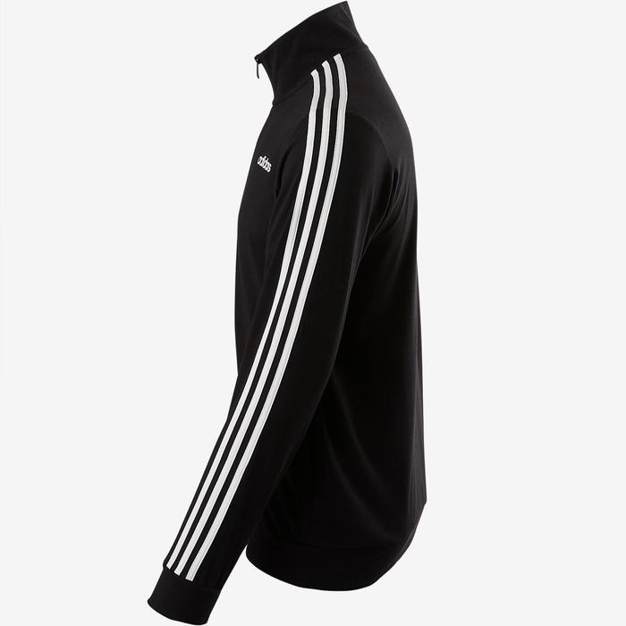 Adidas Veste Adidas 100 Pilates Gym douce noir homme  3e0c422fc94