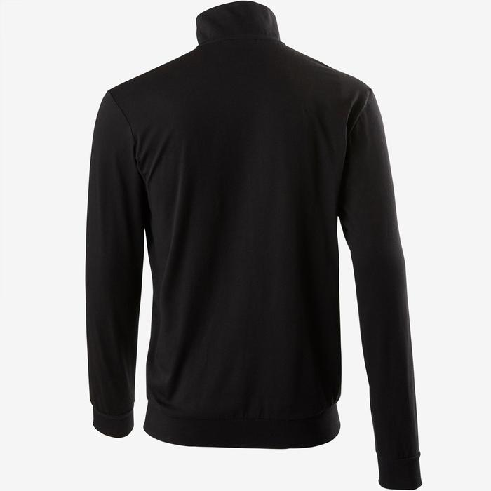 Trainingsjacke mit 3 Streifen Herren schwarz