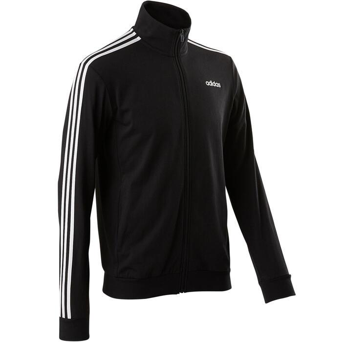 Herenvest Adidas 100 voor pilates en lichte gym zwart