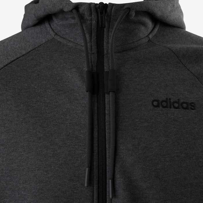 97e90cff3a553 Adidas Veste Adidas 560 capuche Pilates Gym douce homme grise ...