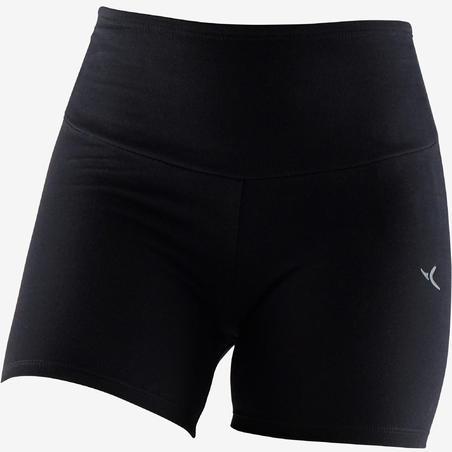 Women's Pilates & Gentle Gym Slim-Fit Shaping Shorts 900 - Black