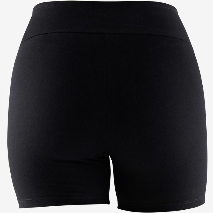 Shorts kurz 900 Gym & Pilates Damen schwarz