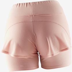Sporthose kurz 520 Gym & Pilates Damen rosa