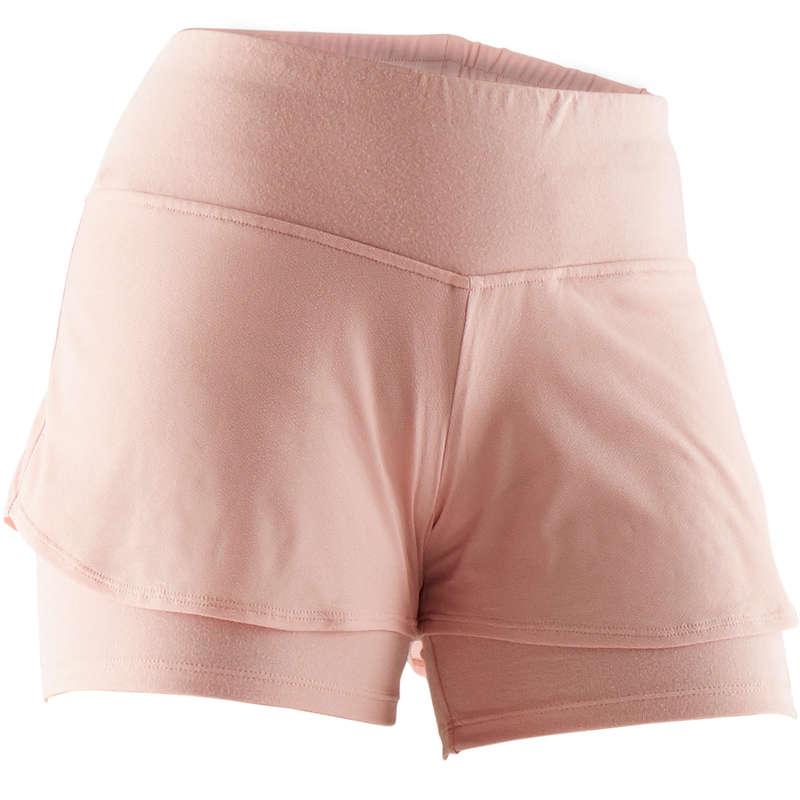 WOMAN T SHIRT LEGGING SHORT Pilates - Gym Shorts 520 - Pink DOMYOS - Pilates Clothes