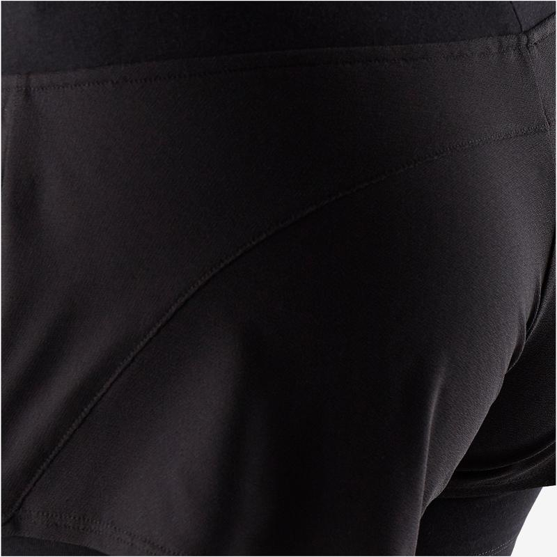 f23f97e10d Női rövidnadrág kímélő tornához, pilateshez 520-as, fekete | Domyos ...
