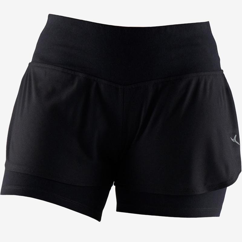 Dámské šortky 520 na pilates černé Domyos  9259db8fc4