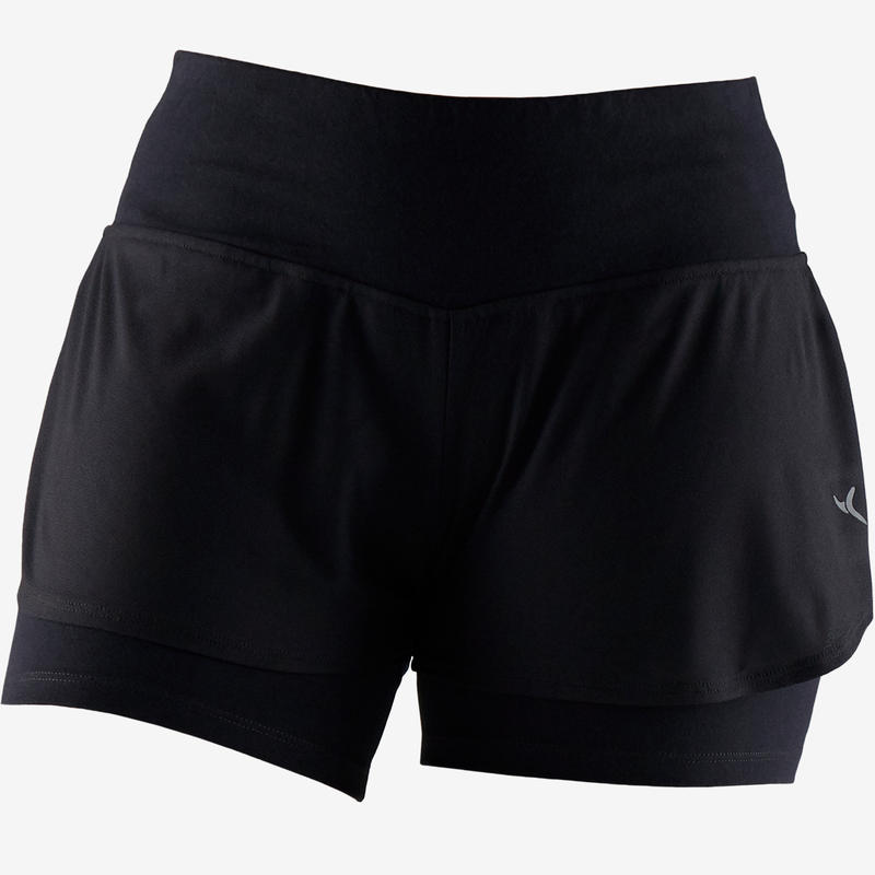 520 Women's Gentle Gym & Pilates Shorts - Black