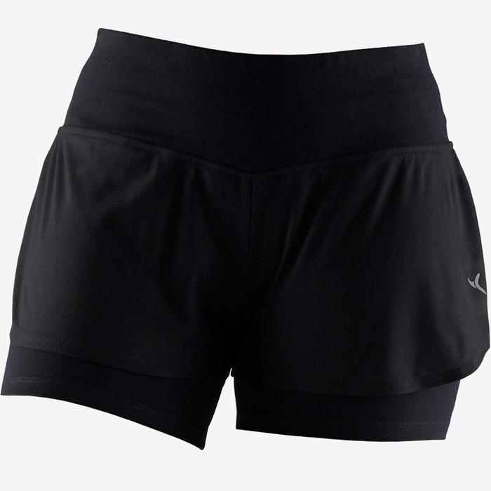 Short 520 pilates en lichte gym dames zwart