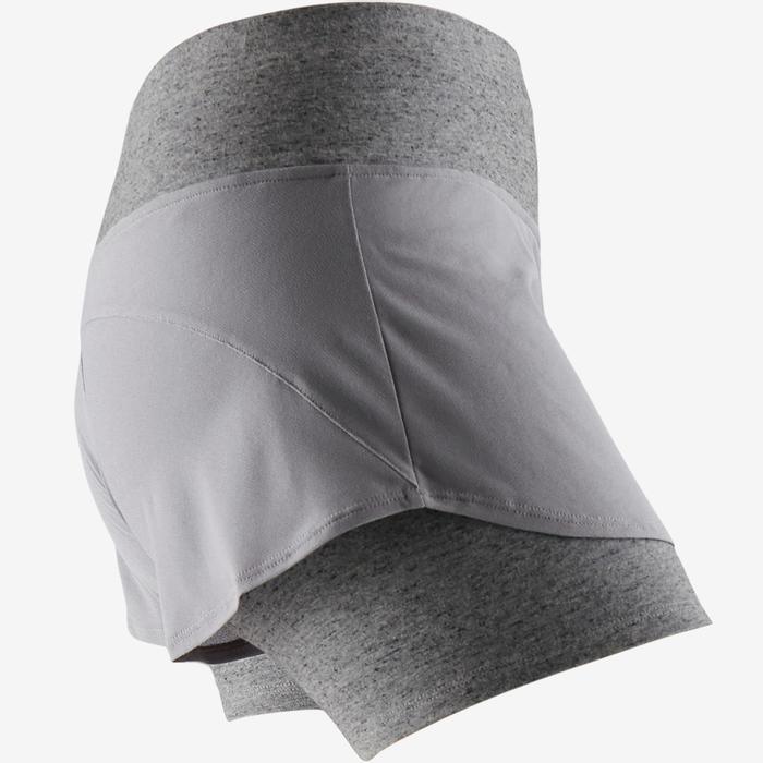 Sporthose kurz 520 Pilates sanfte Gym Damen grau