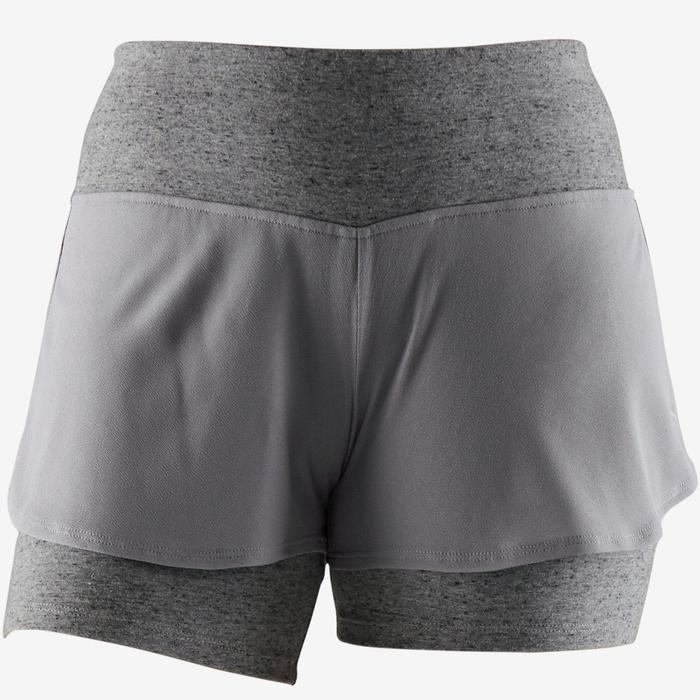 Short 520 pilates en lichte gym dames grijs