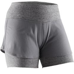 Short 520 Pilates Gym douce femme gris