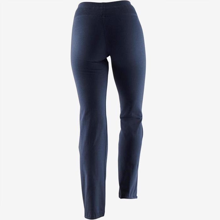 Legging Confort+ 500 regular fit pilates en lichte gym dames blauw