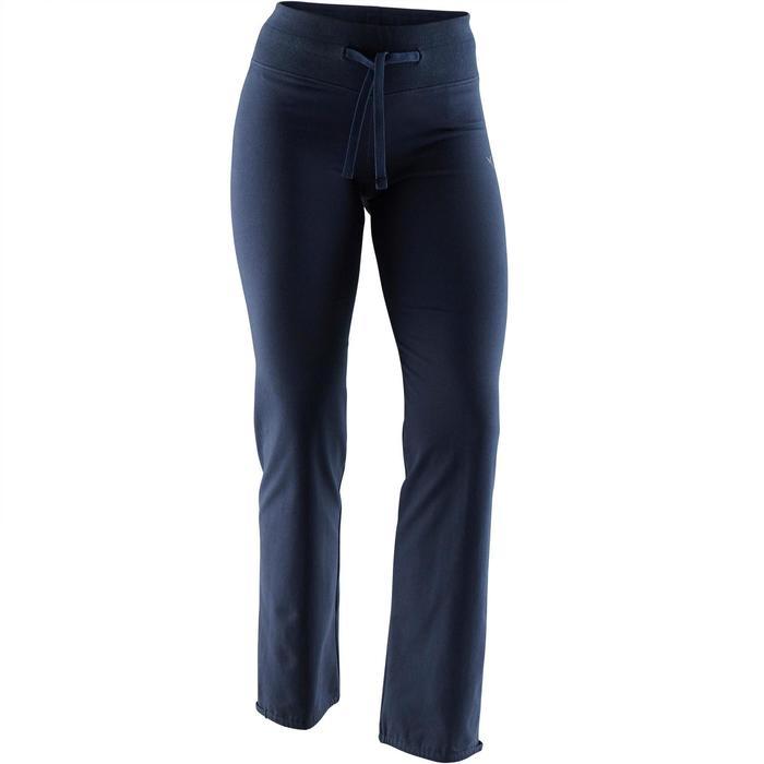 Legging Confort+ 500 regular Pilates Gym douce femme bleu
