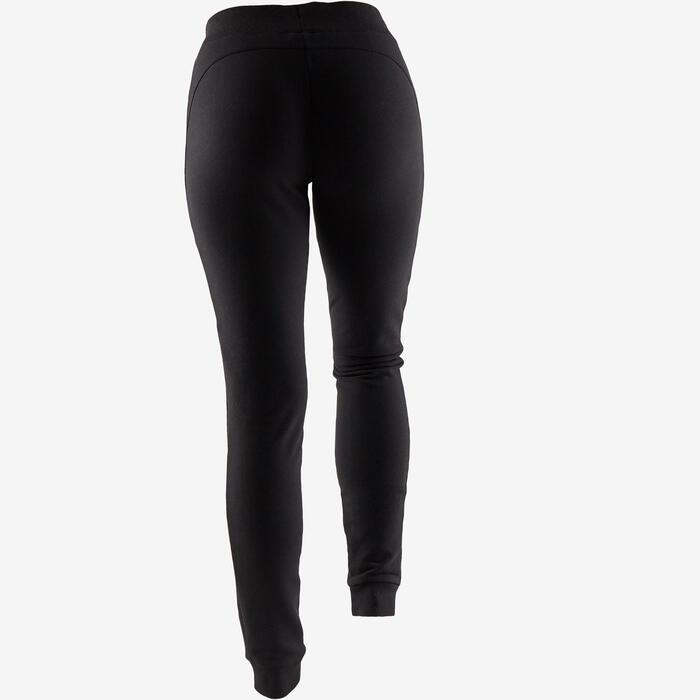Damesbroek voor pilates en lichte gym 510 slim fit zwart