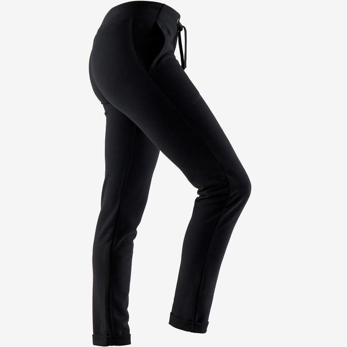 Pantalon 500 slim Pilates Gym douce femme noir