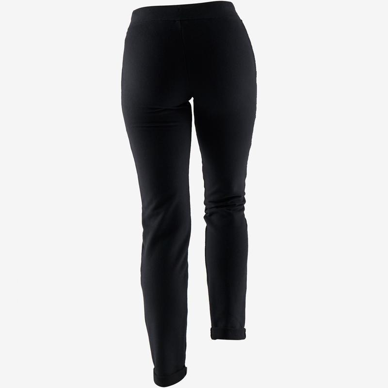 Pantalón 500 slim Pilates y Gimnasia suave mujer negro