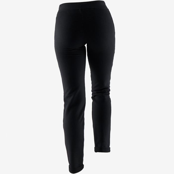 Damesbroek voor zachte gym en pilates 500 Slim zwart