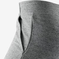 Pantalon 500 ajusté pilates et gym douce femme gris