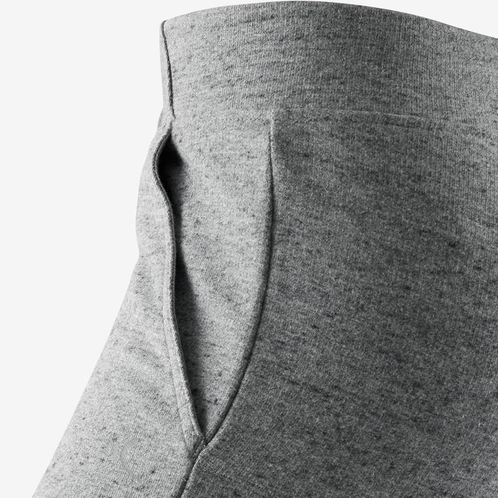 Pantalón 500 slim Pilates y Gimnasia suave mujer gris