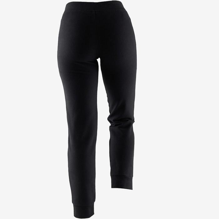 Pantalon 500 regular Pilates Gym douce femme noir