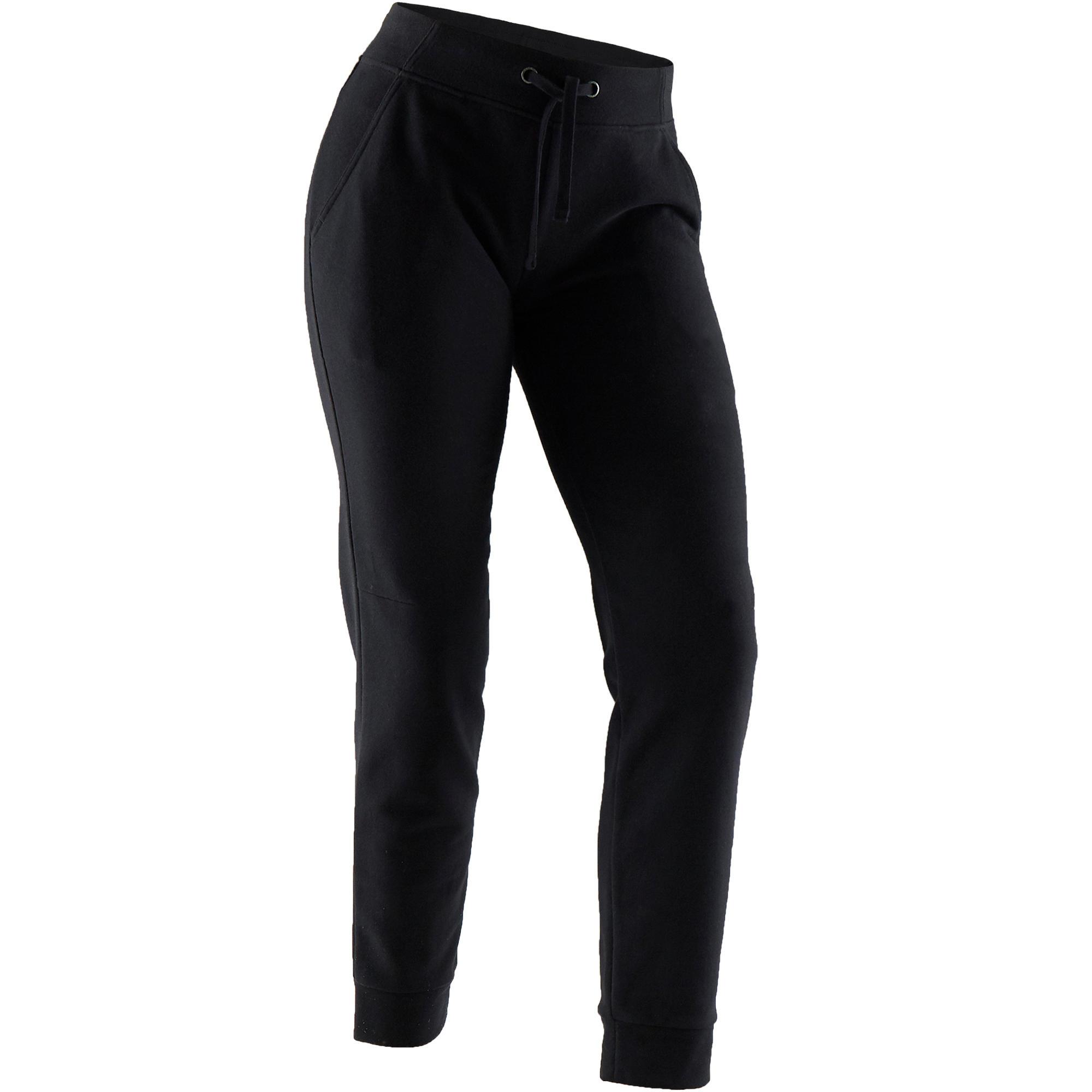Vêtements Femme 500 Pilates Noir Gym Douce Pantalon Regular n0Nvm8w