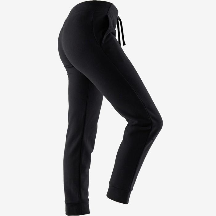 Damesbroek voor zachte gym en pilates 500 Regular zwart