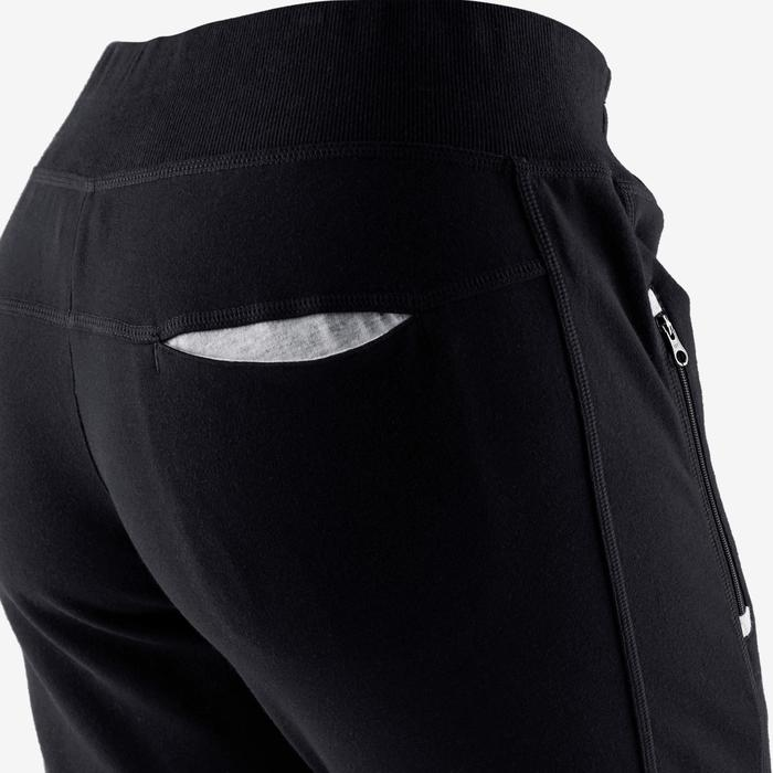 Pantalon 500 heavy zip Pilates Gym douce femme noir