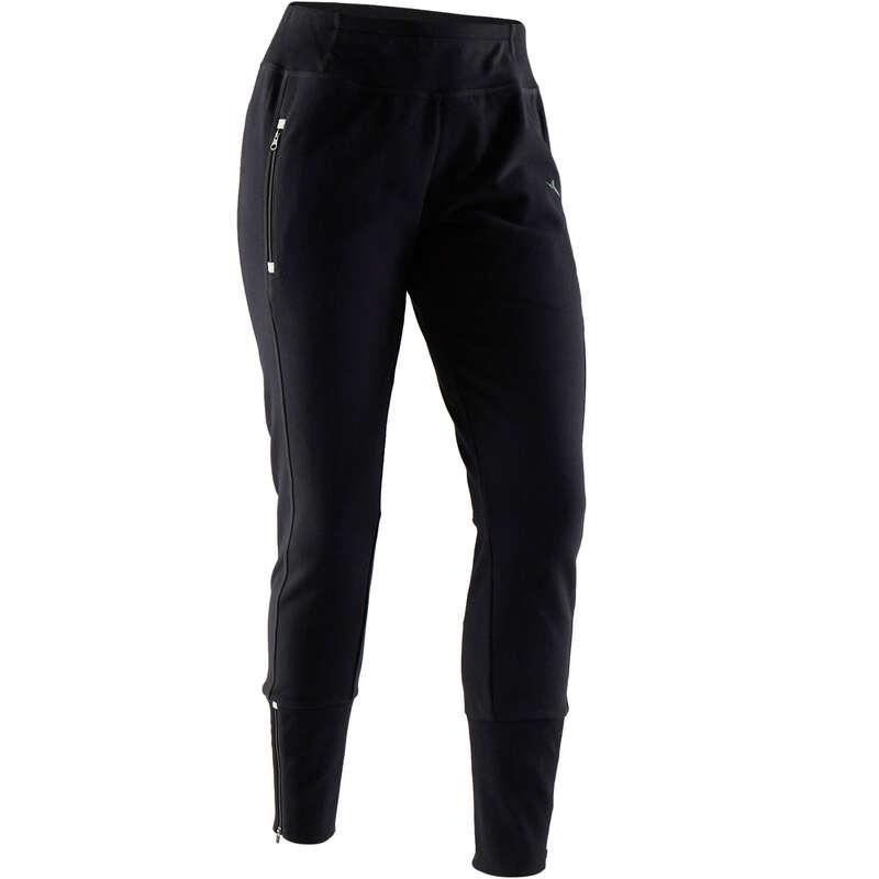 WOMAN PANT JACKET SWEAT Pilates - 500 Heavy Zip Gym Bottoms DOMYOS - Pilates Clothes
