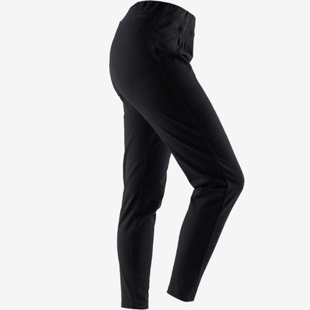 Women's Jogging Bottoms 100 - Black