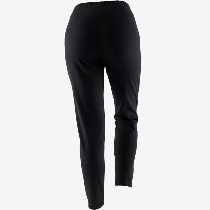 Damesbroek voor zachte gym en pilates 100 zwart