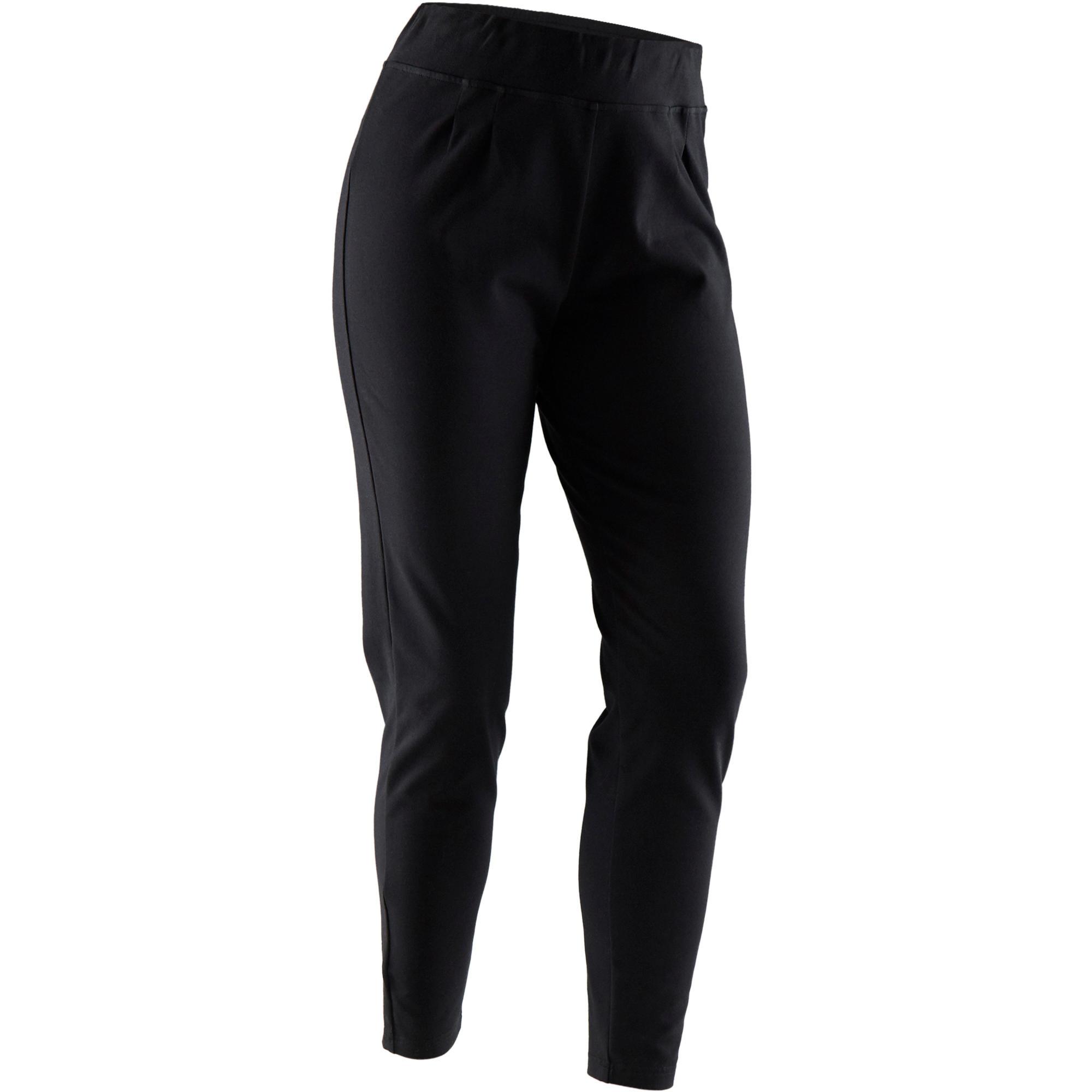 Pantalón 100 de pilates y gimnasia suave mujer negro