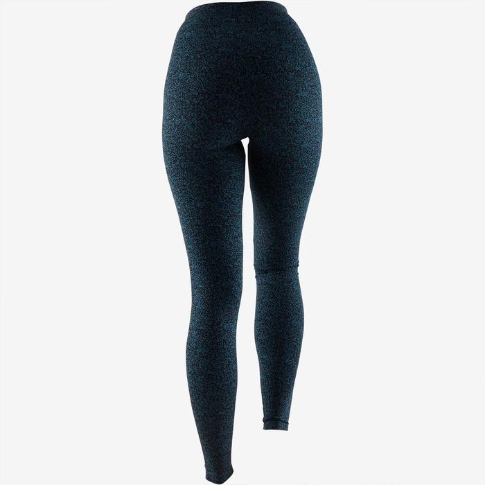 Leggings Fit+ 500 Slim Pilates sanfte Gym Damen türkis AOP