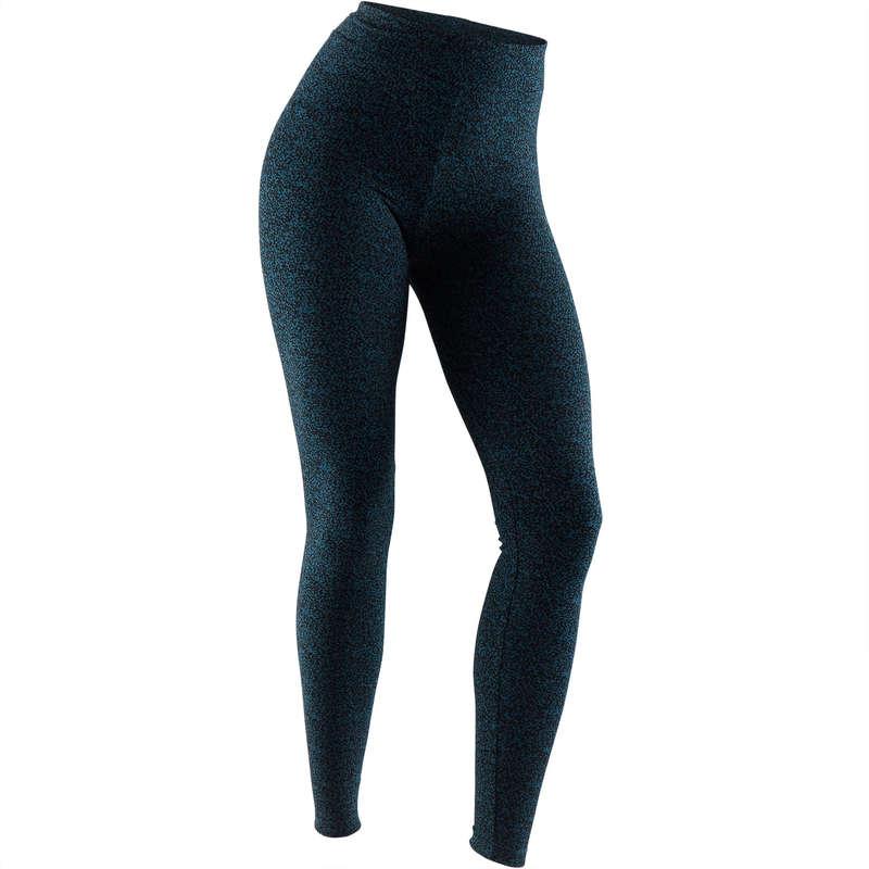 WOMAN T SHIRT LEGGING SHORT Fitness and Gym - Fit+ 500 Slim Gym Leggings NYAMBA - Gym Activewear