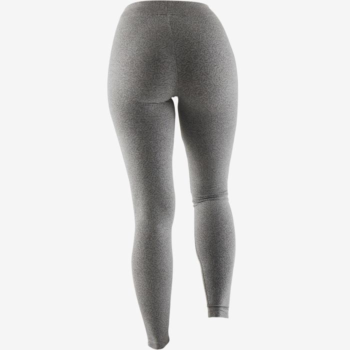 Legging Fit+ 500 slim fit pilates en lichte gym dames grijs AOP