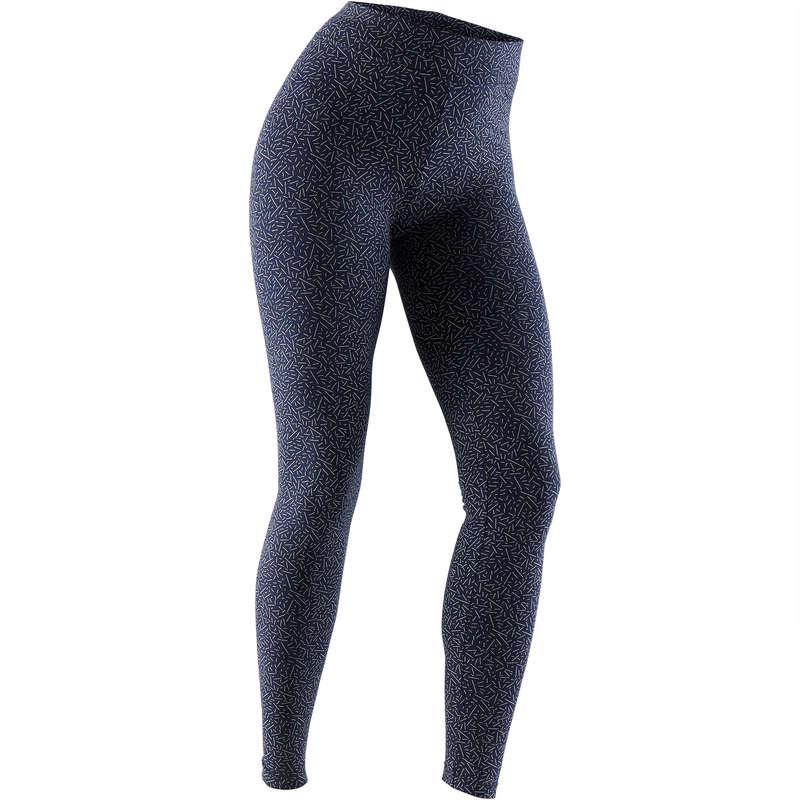 WOMAN T SHIRT LEGGING SHORT Fitness and Gym - 500 Fit+ Slim-Fit Gym Leggings NYAMBA - Gym Activewear