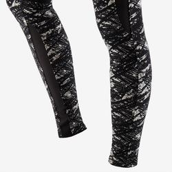 520 Women's Pilates & Gentle Gym Leggings - Black/Beige Print