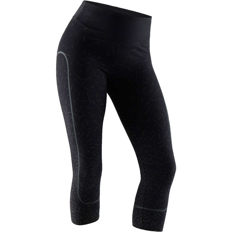 WOMAN T SHIRT LEGGING SHORT Fitness and Gym - Gym Shaping 7/8 Leggings DOMYOS - Gym Activewear