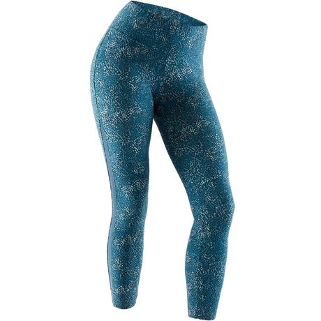 Legging 7 8 520 Pilates Gym douce femme turquoise imprimé  69d228e223b