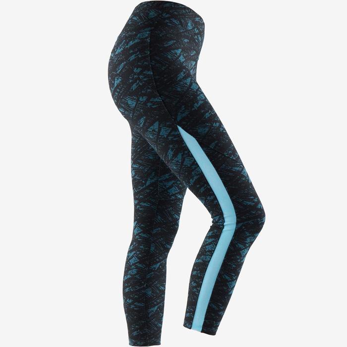 Leggings 7 8 520 Pilates y Gimnasia suave mujer negro estampado turquesa 60dc1806a8ac