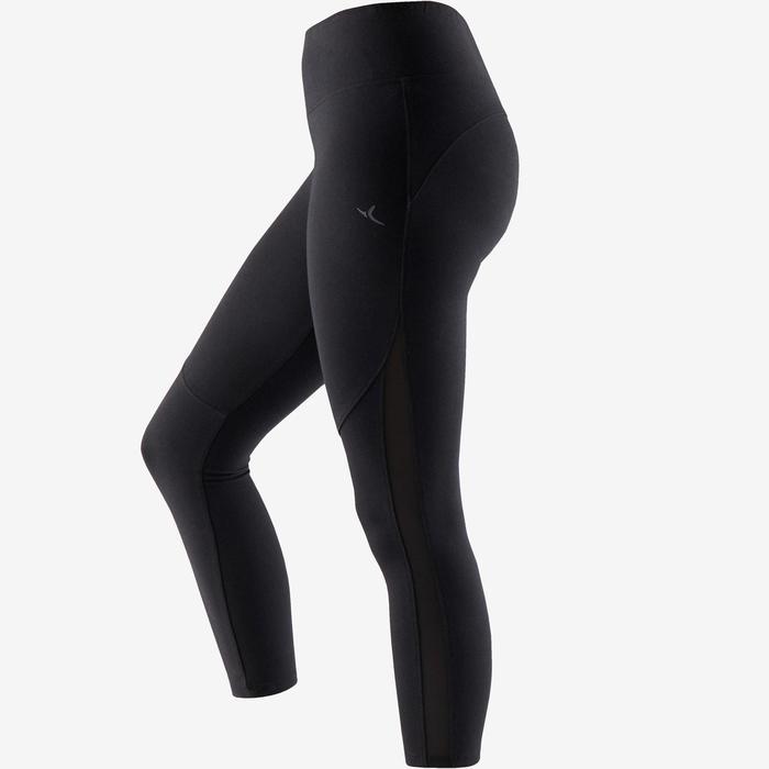7/8-Leggings 520 Gym & Pilates Damen schwarz