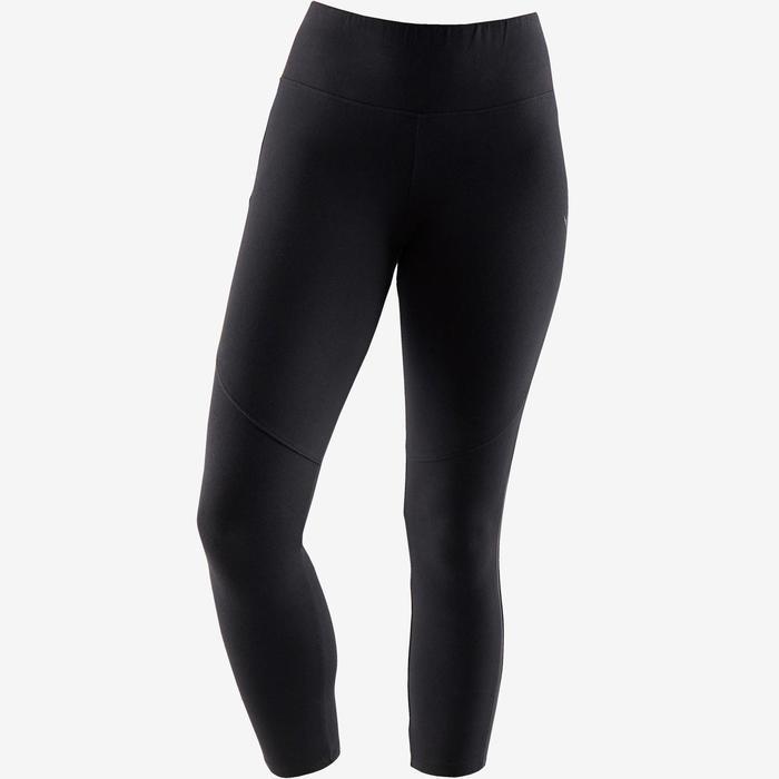7/8-legging 520 pilates en lichte gym dames zwart
