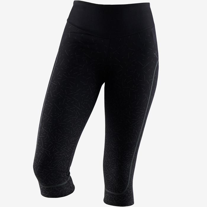 3/4-Leggings aus Baumwolle Fitness formend schwarz