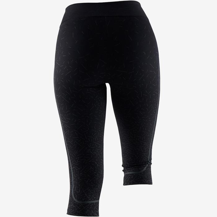 3/4-Hose Slim Gym & Pilates Damen schwarz