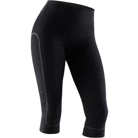 Shaping Cotton Fitness Cropped Bottoms - Black
