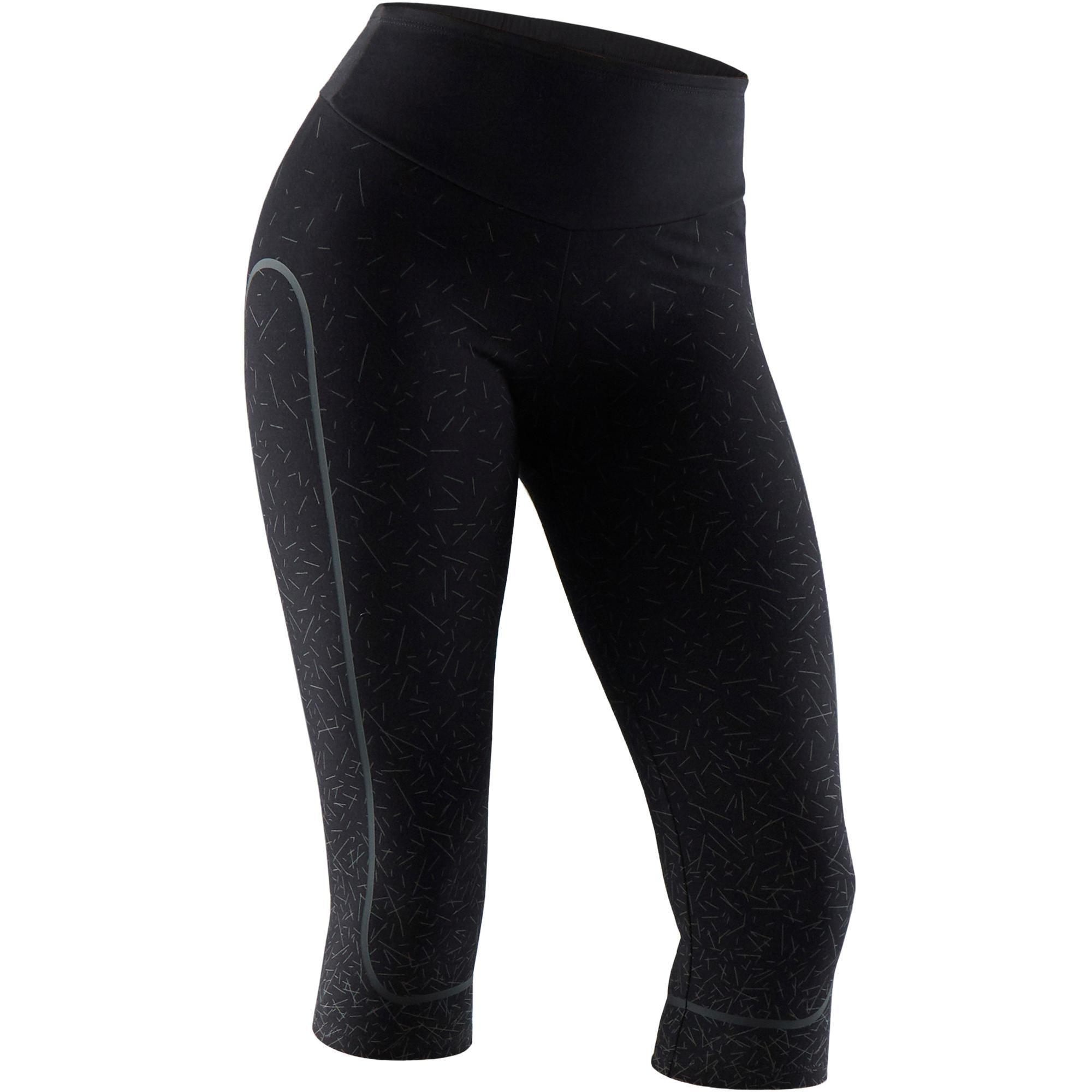 779e74c5c4b Domyos Dameskuitbroek 900 voor gym, stretching en pilates slim fit