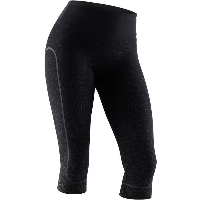 Kuitbroek 560 pilates en lichte gym dames zwart grijs print