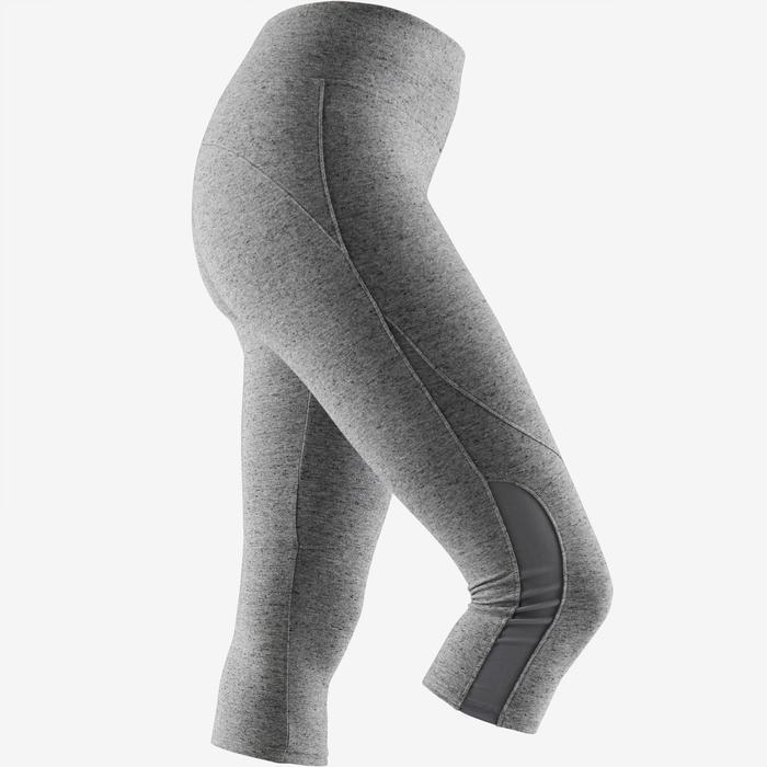 Kuitbroek 520 pilates en lichte gym dames gemêleerd grijs