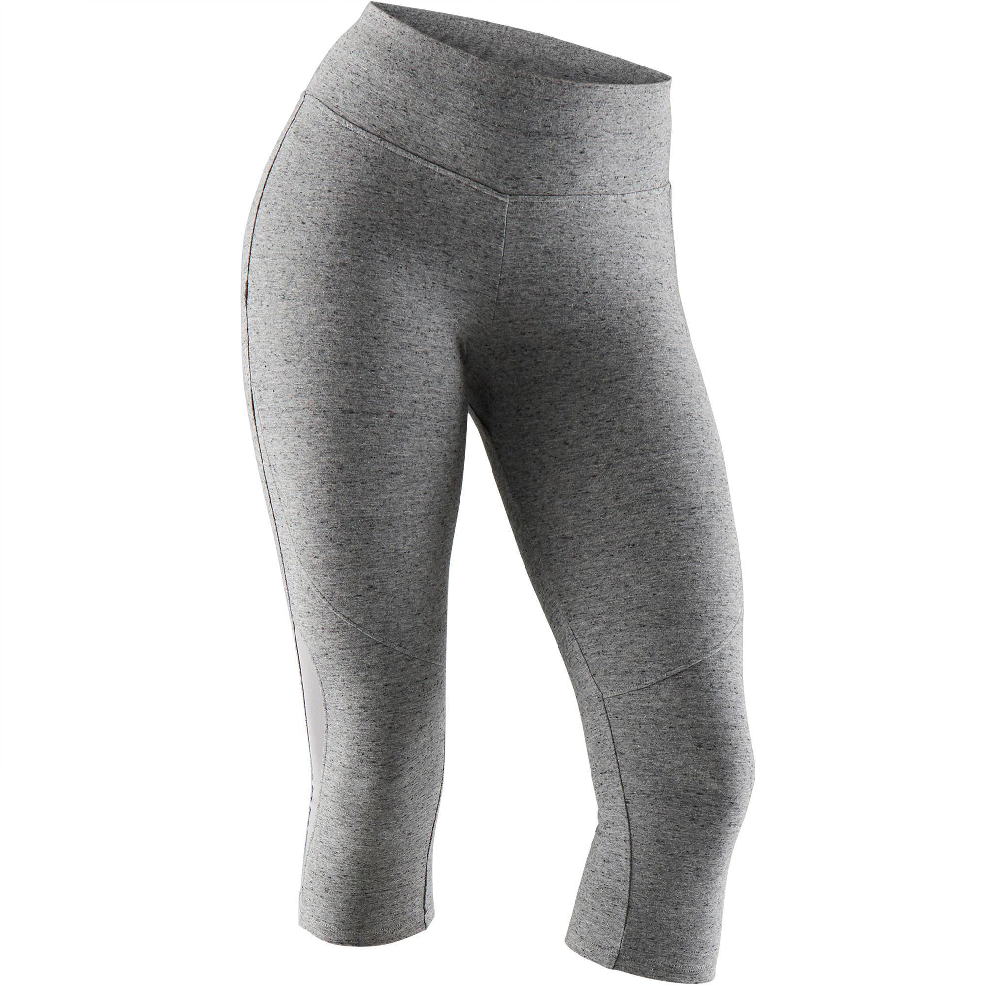 1b941065107949 3 4-Hose 520 Pilates sanfte Gym Damen grau meliert